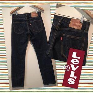 ➡️Levi's Match Stick Skinny Dark Blue Jeans 28 32